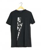 NEIL BARRETT(ニールバレット)の古着「プリントTシャツ」 ブラック