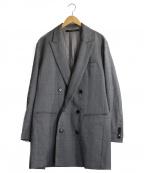 DRESSEDUNDRESSED(ドレスドアンドレスド)の古着「オーバーサイズダブルブレステッドジャケット」 グレー