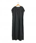 PLAIN PEOPLE(プレインピープル)の古着「コットンリネンワンピース」|ブラック