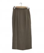 JURGEN LEHL(ヨーガンレール)の古着「シルクタイトスカート」 カーキ