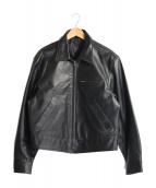 Paul Smith London(ポールスミスロンドン)の古着「レザートラッカージャケット」|ブラック