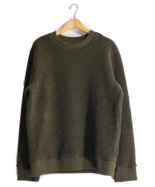 A.P.C.(アーペーセー)A.P.C. (アーペーセー) ボアクルーネックスウェット カーキ サイズ:Mの古着・服飾アイテム
