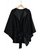 allureville(アルアバイル)の古着「ノーカラーウールジャケット」|ブラック