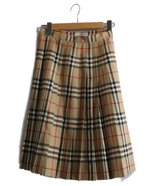 Burberrys(バーバリーズ)Burberrys (バーバリーズ) ヴィンテージプリーツスカート ベージュ サイズ:160cm表記の古着・服飾アイテム
