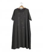 FUGA FUGA(フーガフーガ)の古着「刺繍入りカットソーワンピース」|グレー
