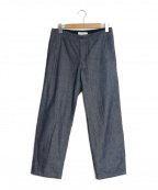 STILL BY HAND()の古着「Semi Wide Denim Pants」|インディゴ