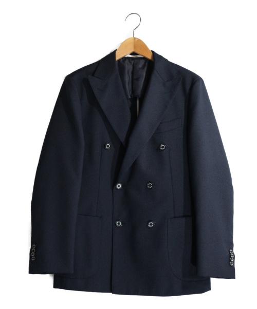 MACKINTOSH PHILOSOPHY(マッキントッシュフィロソフィー)MACKINTOSH PHILOSOPHY (マッキントッシュフィロソフィー) トロッターダブルブレストジャケット ネイビー サイズ:38Rの古着・服飾アイテム