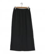 MOGA(モガ)の古着「ピーチツイルタイトスカート」|ブラック