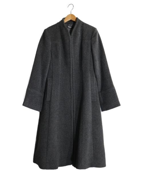 HIROKO BIS(ヒロコビス)HIROKO BIS (ヒロコビス) ロングシャギーコート グレー サイズ:9の古着・服飾アイテム