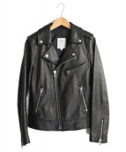 B:MING LIFE STORE(ビーミングライフストア)の古着「ラムレザーライダースジャケット」|ブラック