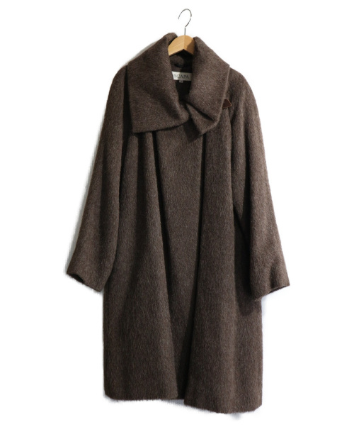 SCAPA(スキャパ)SCAPA (スキャパ) アルパカジャギーコート ブラウン サイズ:38の古着・服飾アイテム