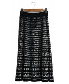 S Max Mara(エス マックスマーラ)の古着「ビスコースニットスカート」|ブラック