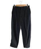 ISSEY MIYAKE MEN(イッセイミヤケメン)の古着「異素材デザインテーパードパンツ」 ブラック
