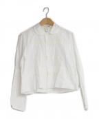 TAO COMME des GARCONS(タオ コムデギャルソン)の古着「ピンタックラウンドカラーシャツ」|ホワイト