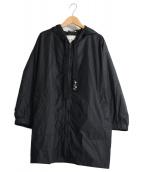 S Max Mara(エス マックスマーラ)の古着「パッカブルナイロンフーデッドジャケット」|ブラック
