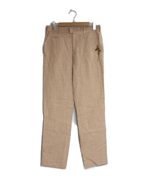 Paul Smith COLLECTION(ポールスミスコレクション)Paul Smith COLLECTION (ポールスミスコレクション) バード刺繍リネンパンツ ベージュ サイズ:78 リネンパンツ スラックス イージーパンツの古着・服飾アイテム