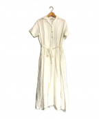 fog linen work()の古着「リネンブラウスワンピース」|ホワイト