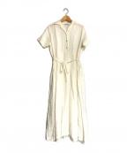fog linen work(フォグリネンワーク)の古着「リネンブラウスワンピース」 ホワイト