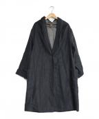 YARRA(ヤラ)の古着「リネン混コート」 ブラック