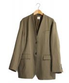 6(ROKU) BEAUTY&YOUTH(ロク ビューティアンドユース)の古着「ノーカラージャケット」 ブラウン