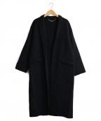 ROPE(ロペ)の古着「リバーメントチェスターコート」|ブラック