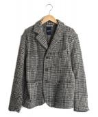 45rpm(フォーティファイブアールピーエム)の古着「45r シェットランドウールジャケット」|グレー×ブラック