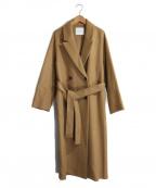 LAGUNA MOON(ラグナムーン)の古着「ナローテーラーリバーコート」|ブラウン