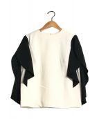 ()の古着「drape sleeve PO」 ホワイト×ブラック