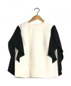 AKIRA NAKA(アキラナカ)の古着「drape sleeve PO」|ホワイト×ブラック