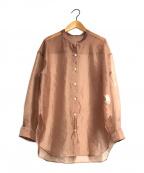 Noble(ノーブル)の古着「リンクルオーガンジーシャツ」 ブラウン