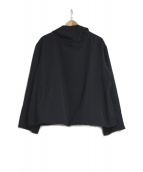 YOHJI YAMAMOTO(ヨウジヤマモト)の古着「ウールプルオーバーパーカー」|ブラック
