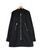 DIESEL(ディーゼル)の古着「ナイロンスタンドカラーコート」|ブラック