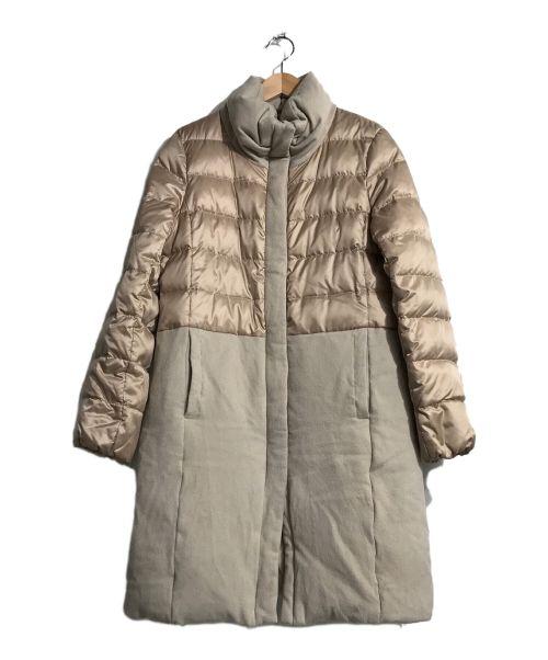 23区(ニジュウサンク)23区 (ニジュウサンク) カシミヤ混切替ダウンコート ベージュ サイズ:38の古着・服飾アイテム
