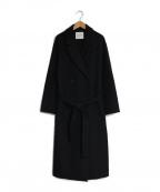 LAGUNA MOON(ラグナムーン)の古着「ナローテーラーリバーコート」|ブラック