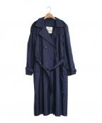 LONDON FOG(ロンドンフォグ)の古着「ダブルナイロントレンチコート」 ネイビー