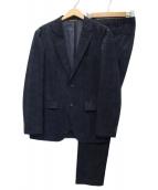 TAKEO KIKUCHI(タケオキクチ)の古着「リネンライクプリントセットアップスーツ」|ネイビー