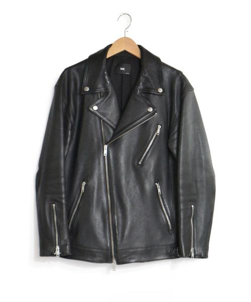 HARE(ハレ)HARE (ハレ) ラムレザーライダースジャケット ブラック サイズ:M レザージャケット ダブルライダースジャケットの古着・服飾アイテム