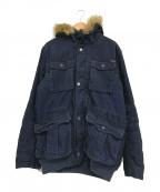 DIESEL(ディーゼル)の古着「ファー付コーデュロイフーデッドコート」 ネイビー
