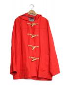 LONDON Tradition(ロンドントラディション)の古着「リネンダッフルコート」 レッド