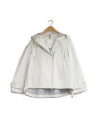 DUNO(デュノ)の古着「フーデッドブルゾン」|ホワイト