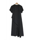 LE CIEL BLEU(ルシェルブルー)の古着「ラッフルパネルドレスワンピース」|ブラック