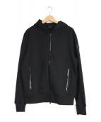 MONCLER(モンクレール)の古着「ロゴラインジップパーカー」|ブラック