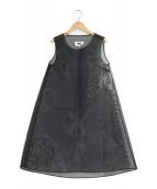 MM6 Maison Margiela(エムエムシックス メゾンマルジェラ)の古着「メッシュスリーブレスワンピース」|ブラック