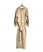 emmi atelier(エミアトリエ)の古着「タスマニアウールワンピ」|ベージュ