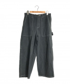 digawel(ディガウェル)の古着「製品染ステッチペインターパンツ」|ブラック