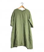 YARRA(ヤラ)の古着「リネンワンピース」 オリーブ