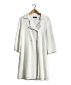 ()の古着「ロングコート」 ホワイト