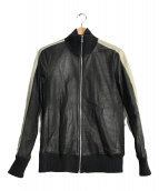 ()の古着「ラムレザージャケット」|ブラック×ホワイト