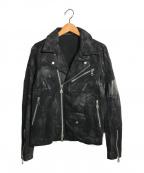 NO ID.(ノーアイディー)の古着「コーティングライダースジャケット」|ブラック