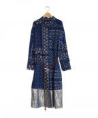 KOLOR(カラー)の古着「プリントラップドレス」|ブルー